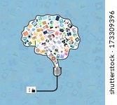 brain on light bulb with...