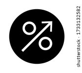percentage icon vector isolated ...