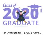 graduating class of 2020 banner ... | Shutterstock .eps vector #1733172962