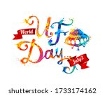world ufo day. july 2. flying... | Shutterstock .eps vector #1733174162