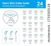 vector set of line icon of men... | Shutterstock .eps vector #1733203118