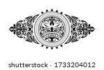 polynesian style tattoo design. ... | Shutterstock .eps vector #1733204012