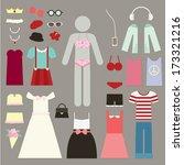 dress up sign vector  women sign | Shutterstock .eps vector #173321216