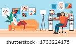flat style vector illustration... | Shutterstock .eps vector #1733224175