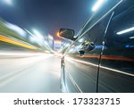 car on the road with motion... | Shutterstock . vector #173323715