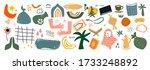 big set of hand drawn various...   Shutterstock .eps vector #1733248892