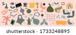 big set of hand drawn various... | Shutterstock .eps vector #1733248895