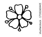 flower hand drawn illustration  ... | Shutterstock .eps vector #1733260445