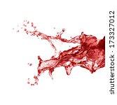 splash of red juice  | Shutterstock . vector #173327012