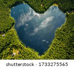 A Heart Pond Located In...