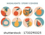 collection of highlight story... | Shutterstock .eps vector #1733290325