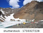 Climbers Camp On The Shore Of...