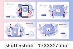 business maze concept.... | Shutterstock .eps vector #1733327555