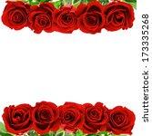Red Rose Flowers Border...