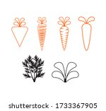 carrot icon. carrot logo.... | Shutterstock .eps vector #1733367905