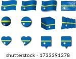 various designs of the nauru...   Shutterstock . vector #1733391278