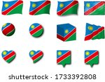 various designs of the namibia...   Shutterstock . vector #1733392808