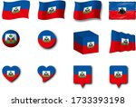 various designs of the haiti...   Shutterstock . vector #1733393198