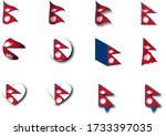 various designs of the nepal...   Shutterstock . vector #1733397035