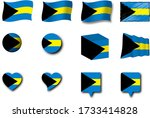 various designs of the bahamas...   Shutterstock . vector #1733414828