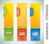 summer banners   vector... | Shutterstock .eps vector #173341652