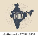 made in india badge or label or ... | Shutterstock .eps vector #1733419358