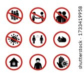 signs social distancing safety... | Shutterstock .eps vector #1733419958