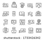 online education icon set.... | Shutterstock .eps vector #1733426342