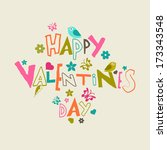 happy valentines day... | Shutterstock .eps vector #173343548