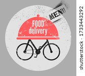 food delivery service concept... | Shutterstock .eps vector #1733443292