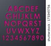 alphabet set | Shutterstock . vector #173345756