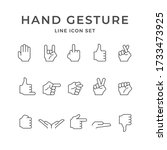 Set Line Icons Of Hand Gesture...