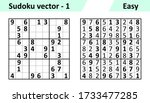 sudoku game with answers.... | Shutterstock .eps vector #1733477285
