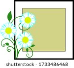 frame with blue and white... | Shutterstock .eps vector #1733486468