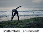 Closeup Surfer Silhouette...