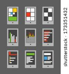 tile mobile phone interface...