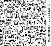 black french seamless pattern ... | Shutterstock .eps vector #1733532842