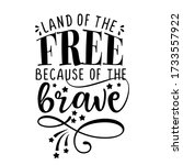 land of the free because of the ... | Shutterstock .eps vector #1733557922