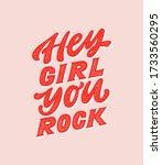 Hey Girl You Rock   Handdrawn...