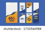 set of sale banner template... | Shutterstock .eps vector #1733566988