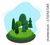 summer landscape illustration....   Shutterstock .eps vector #1733567285