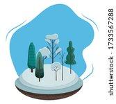 winter landscape illustration.... | Shutterstock .eps vector #1733567288