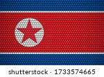 abstract flag of north korea... | Shutterstock .eps vector #1733574665