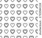 romantic seamless pattern. many ... | Shutterstock .eps vector #1733584118