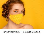 Redhead Freckled Woman Wearing...