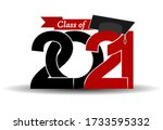 class and graduates of 2021...   Shutterstock .eps vector #1733595332