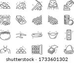 gold line icon set. included... | Shutterstock .eps vector #1733601302
