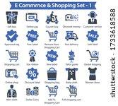 e commerce   shopping icons  ... | Shutterstock .eps vector #1733618588