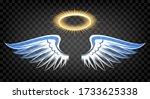 Angel Wings With Nimbus. Heaven ...