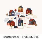 illustration with different... | Shutterstock .eps vector #1733637848
